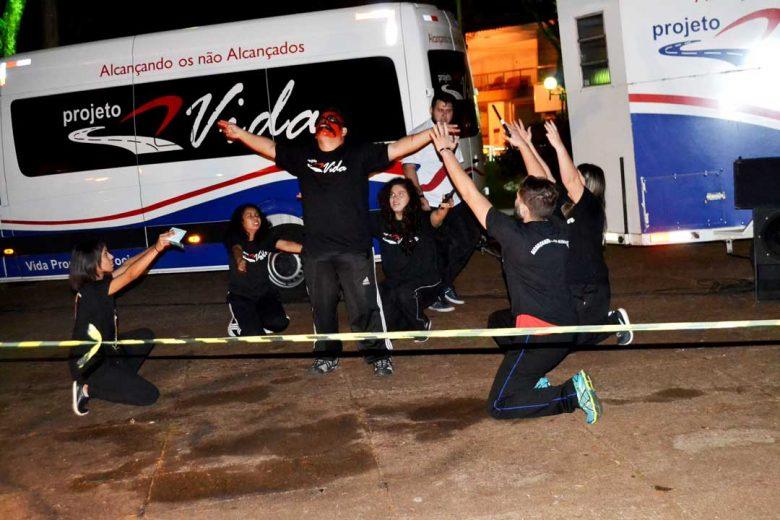 Projeto Vida levou show para praça e  escolas de São Jorge do Patrocínio