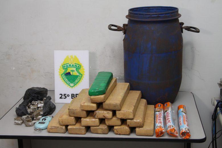 PM 'desenterra' mais de 11 kg de maconha no Parque Industrial