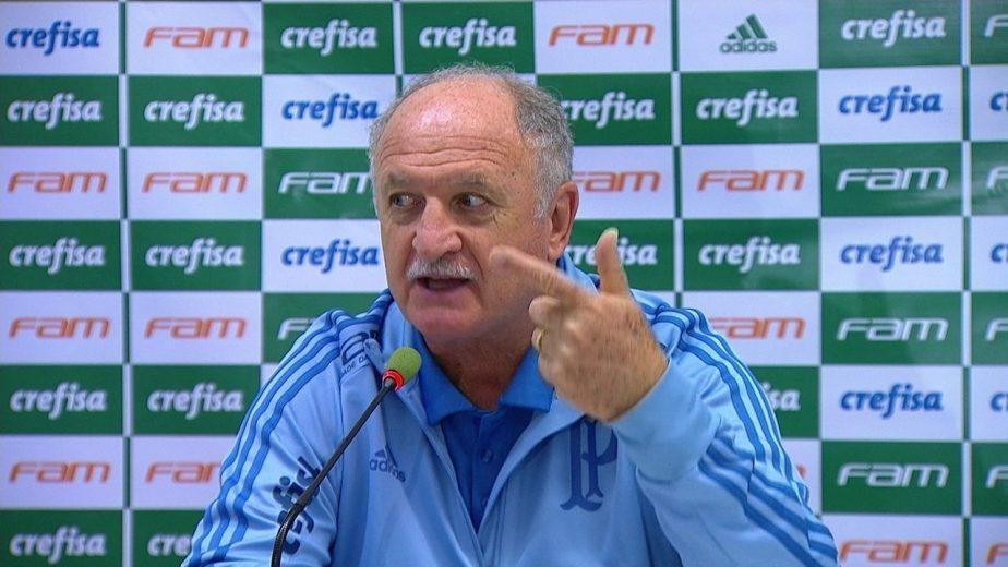 """Felipão nega """"apagão"""" por gols no fim e diz que faltou jogo ao Palmeiras"""