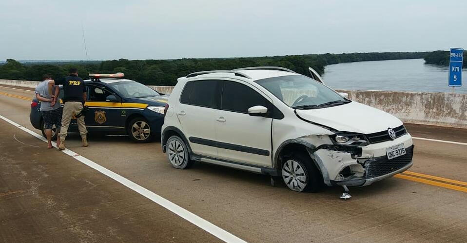Três homens são presos com carro furtado em Santa Catarina