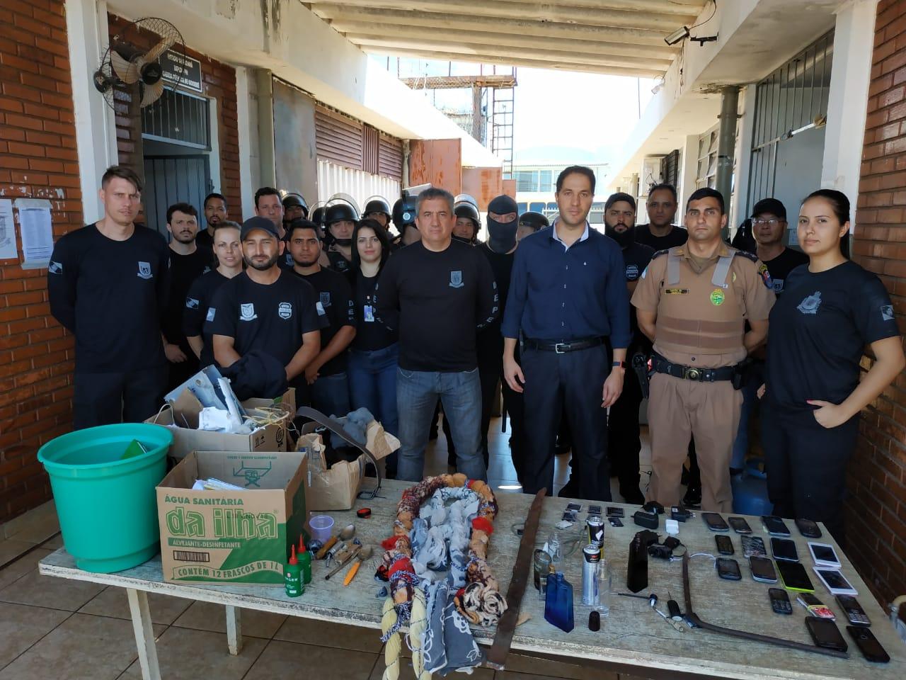 Polícia faz 'bate-grade' na cadeia de Goioerê após nova tentativa de fuga