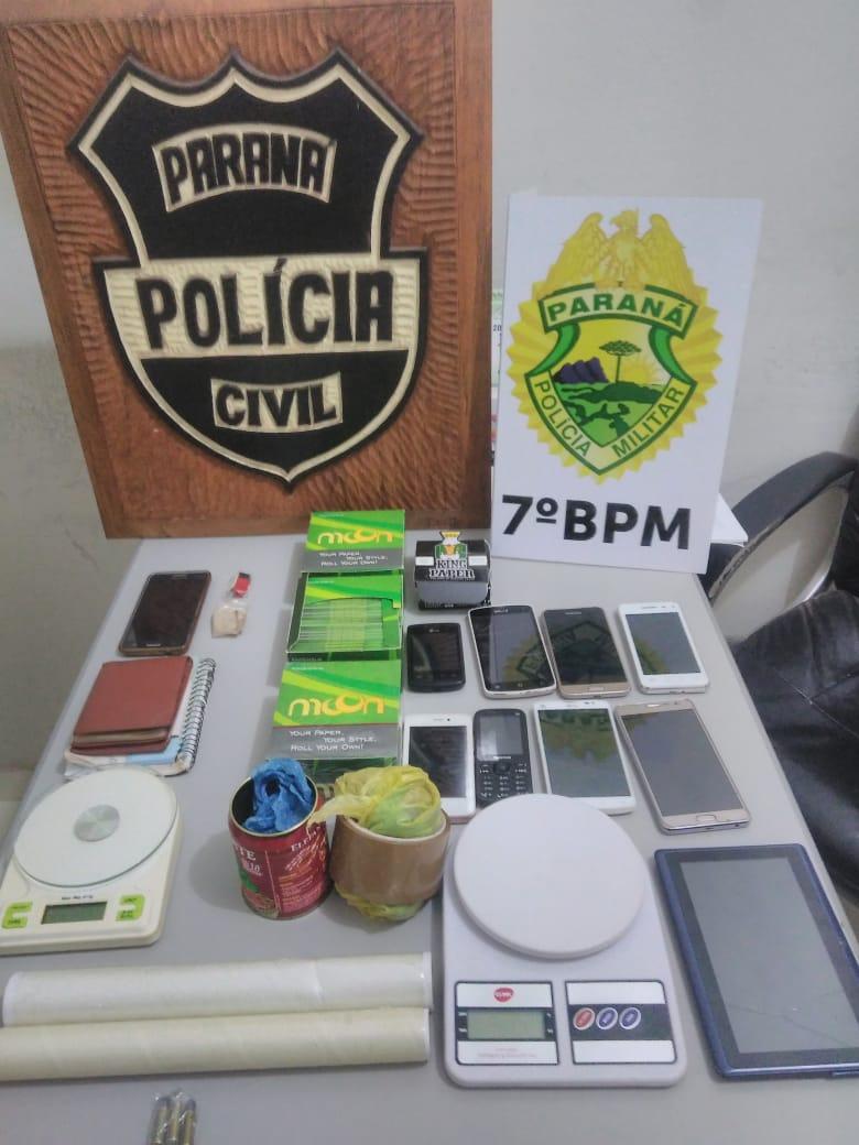 Padrasto e enteado são investigados por  tráfico de drogas em Cidade Gaúcha