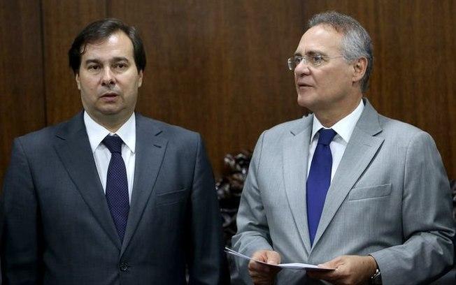 Maia e Renan se equilibram entre governo e oposição por apoio para comandar Congresso