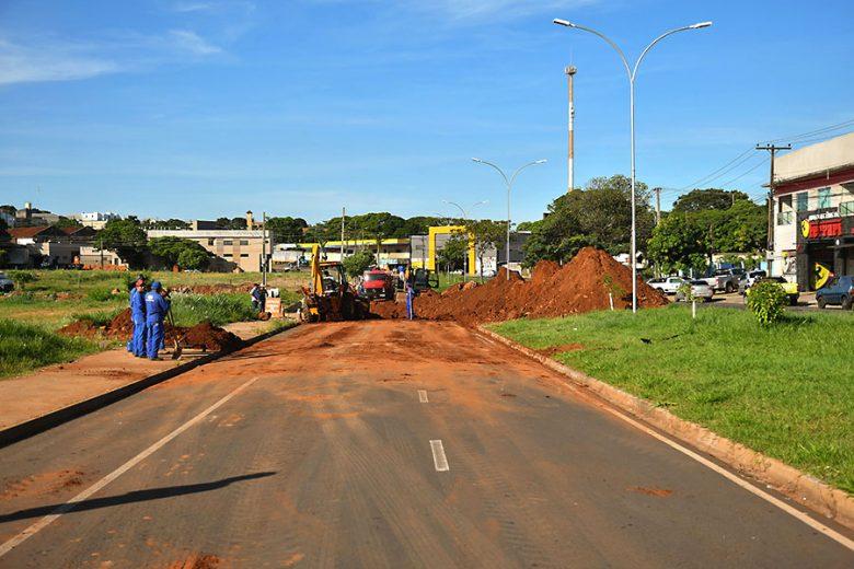 Avenida Parigot de Souza será liberada  provisoriamente para trafego de veículos