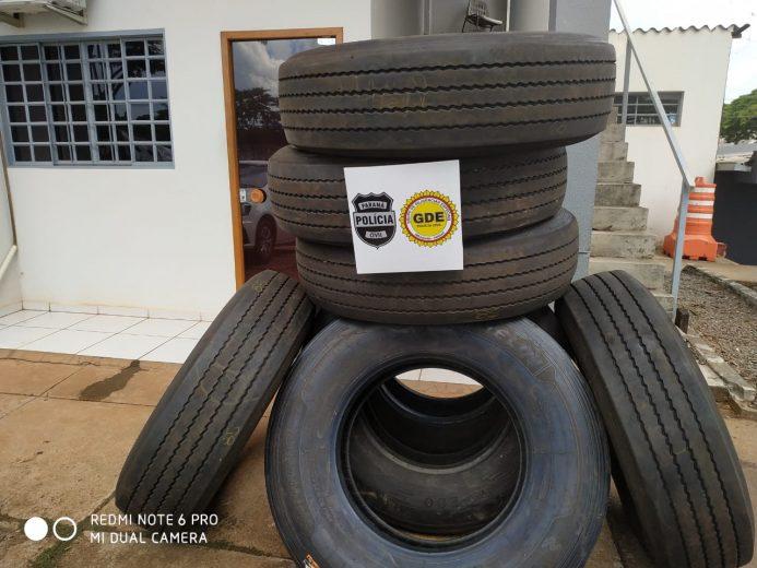 Polícia recupera pneus e identifica estelionatários em Umuarama