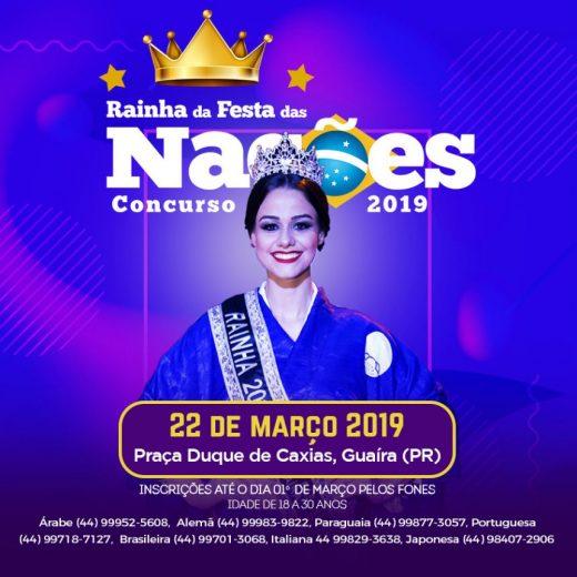 Lançada, Festa das Nações de Guaíra inscreve para concurso da rainha