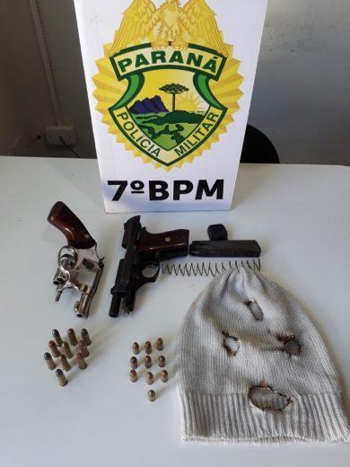 Ladrões são presos após realizarem dois roubos seguidos em Tapejara