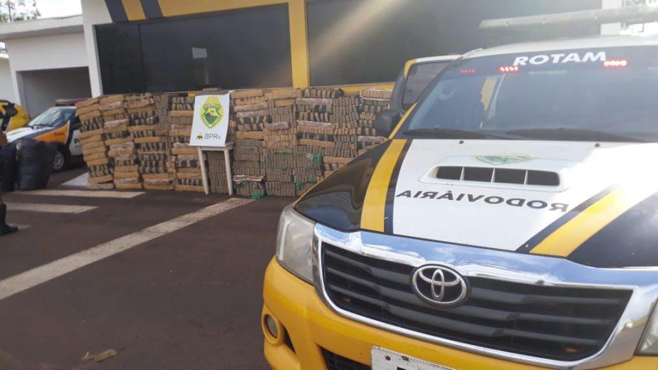 PRE apreende 1,5 tonelada de maconha em caminhão em Umuarama
