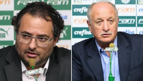 Em coletiva, Mattos pede desculpas e garante Felipão no Palmeiras