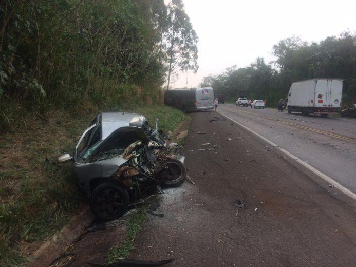 Identificado condutor de Umuarama que morreu em colisão entre Gol e ônibus