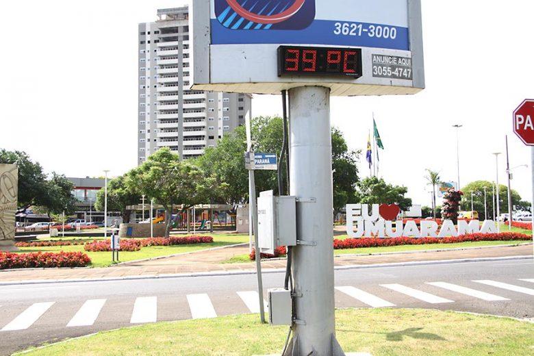 Em Umuarama, 2019 bate recorde das temperaturas mais altas dos últimos 34 anos