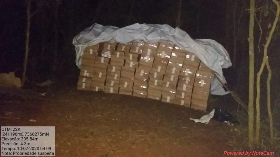 Contrabando escondido em plantação de cana é apreendido em Xambrê