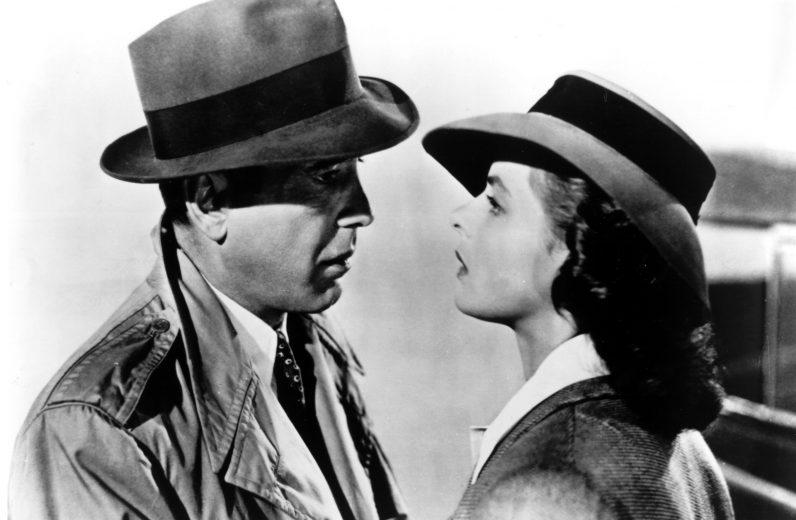 """Humphrey Bogart e Ingrid Bergman foram as estrelas de """"Casablanca"""""""