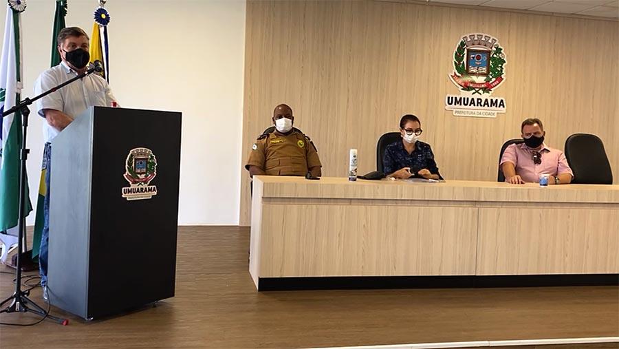 Prefeitura de Umuarama segue decreto restritivo do governo estadual