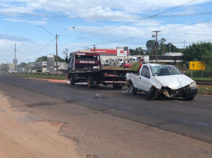 Em fuga da PRE, motorista causa acidente na rodovia PR-323, em Umuarama