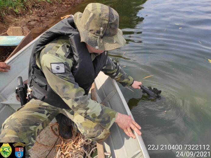 Homem é preso pela prática de pesca predatória no Rio Piquiri